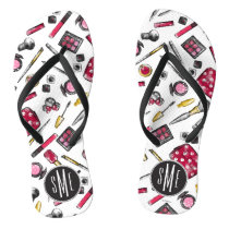 Minnie Mouse | Monogram #what'sinmypurse Pattern Flip Flops