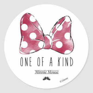 Minnie Mouse   One Of A Kind Classic Round Sticker