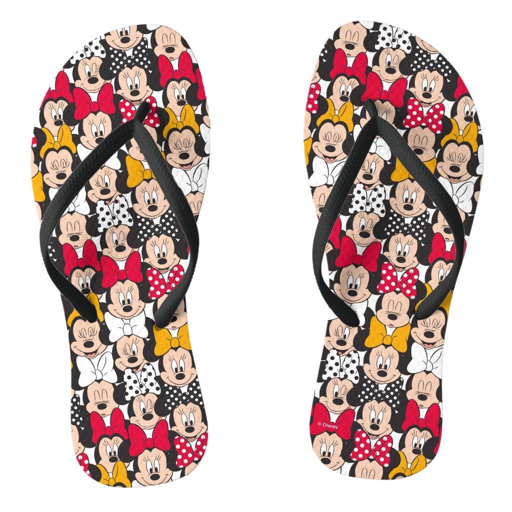 Minnie Mouse | Pattern Flip Flops