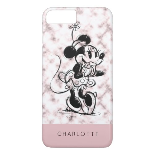 Minnie Mouse | Pink Marble - Add Your Name Phone Case