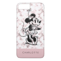 Minnie Mouse | Pink Marble - Add Your Name iPhone 8 Plus/7 Plus Case