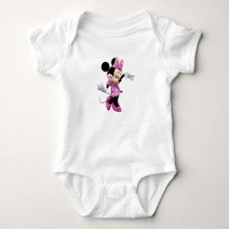 Minnie Mouse pink polka-dot dress waving dancing Shirts
