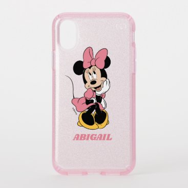 Minnie Mouse   Posing in Pink Speck iPhone XS Case