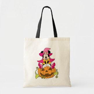 Minnie Mouse que se sienta en la Jack-O-Linterna Bolsa De Mano