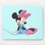 Minnie Mouse que sienta el vestido azul Tapetes De Ratón