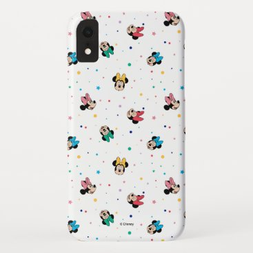 Minnie Mouse Rainbow Bow Pattern iPhone XR Case