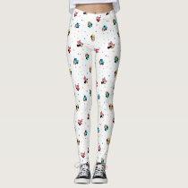 Minnie Mouse Rainbow Bow Pattern Leggings