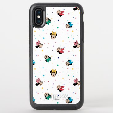 Minnie Mouse Rainbow Bow Pattern OtterBox Symmetry iPhone XS Max Case