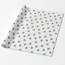 Minnie Mouse Rainbow Bow Pattern Wrapping Paper