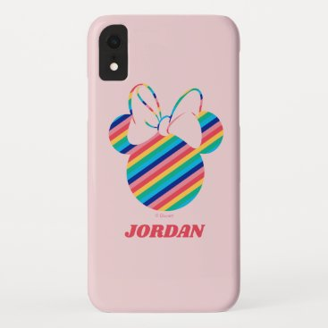Minnie Mouse Rainbow Icon iPhone XR Case