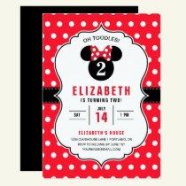 Minnie Mouse | Red & White Polka Dot Birthday Invitation