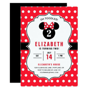 Minnie Mouse Invitations Zazzle