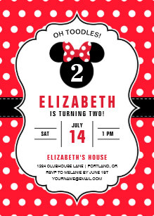 Minnie mouse invitations zazzle minnie mouse red white polka dot birthday invitation filmwisefo