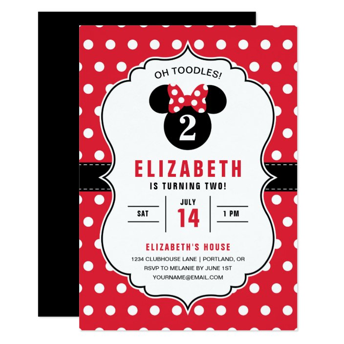 Minnie Mouse Red White Polka Dot