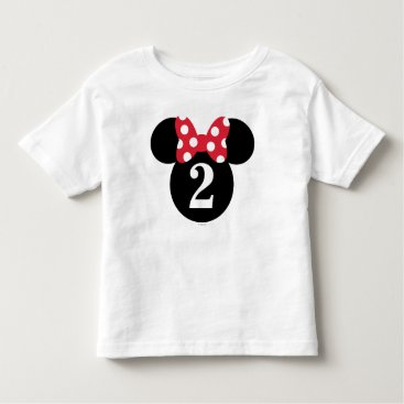 Disney Themed Minnie Mouse | Red & White Polka Dot Birthday Toddler T-shirt