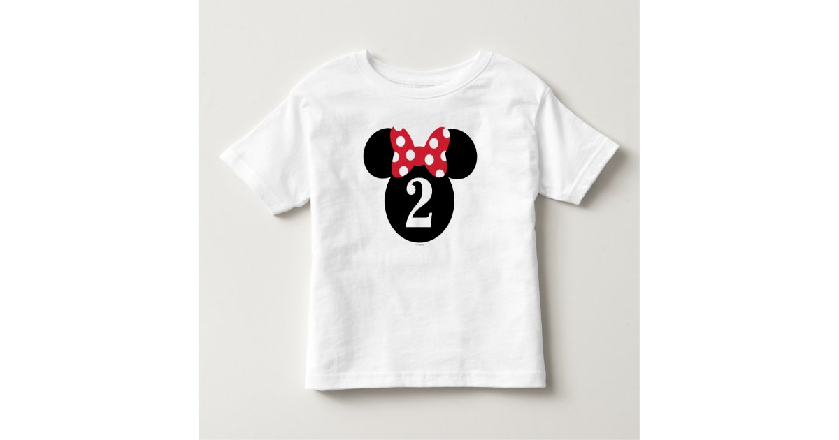 Minnie Mouse Red Amp White Polka Dot Birthday Toddler T