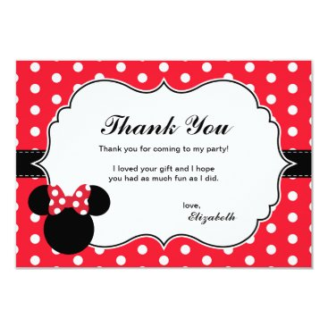 disney Minnie Mouse | Red & White Polka Dot Thank You Card