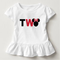 Minnie Mouse | Red & White Second Birthday Toddler T-shirt