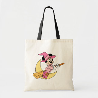 Minnie Mouse Riding Witch Broom Tote Bag