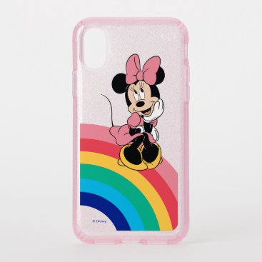 Minnie Mouse | Sitting on a Rainbow Speck iPhone XS Case