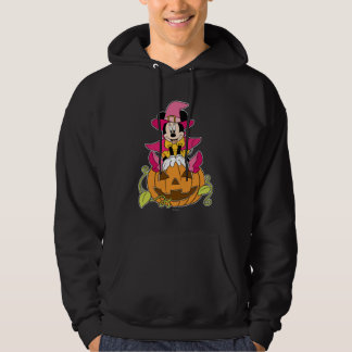 Minnie Mouse Sitting on Jack-O-Lantern Hoodie