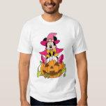 Minnie Mouse Sitting on Jack-O-Lantern Tee Shirt