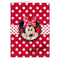 Minnie Mouse | Smiling on Polka Dots Card
