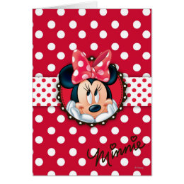 Minnie Mouse   Smiling on Polka Dots Card