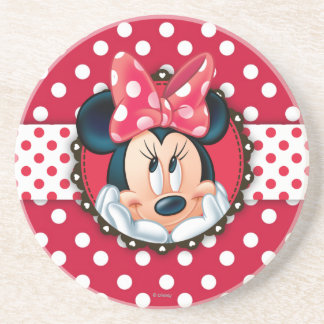 Minnie Mouse | Smiling on Polka Dots Coaster