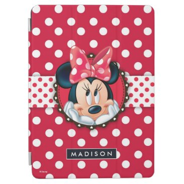 Disney Themed Minnie Mouse | Smiling on Polka Dots iPad Pro Cover