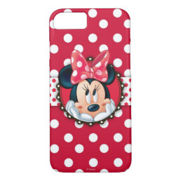 Minnie Mouse | Smiling on Polka Dots iPhone 8/7 Case