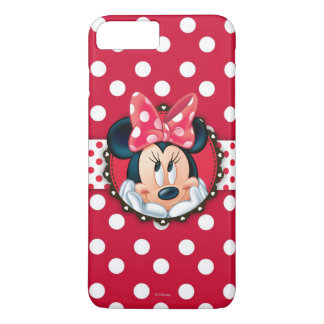 Minnie Mouse   Smiling on Polka Dots iPhone 8 Plus/7 Plus Case