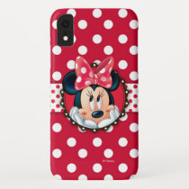 Minnie Mouse | Smiling on Polka Dots iPhone XR Case