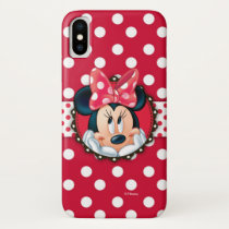 Minnie Mouse | Smiling on Polka Dots iPhone XS Case