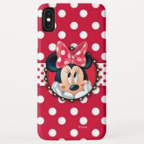 Minnie Mouse | Smiling on Polka Dots iPhone XS Max Case