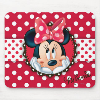 Minnie Mouse | Smiling on Polka Dots Mouse Pad