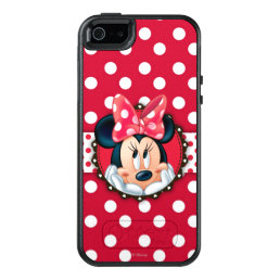 Minnie Mouse   Smiling on Polka Dots OtterBox iPhone 5/5s/SE Case