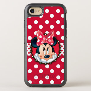 best service 8b68d 29a18 Minnie Mouse | Smiling on Polka Dots OtterBox Symmetry iPhone 8/7 Case