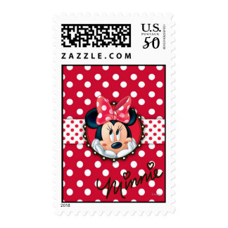 Minnie Mouse | Smiling on Polka Dots Postage