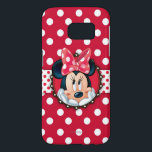 "Minnie Mouse | Smiling on Polka Dots Samsung Galaxy S7 Case<br><div class=""desc"">Minnie Mouse</div>"