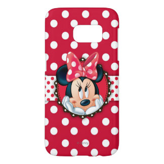 Minnie Mouse | Smiling on Polka Dots Samsung Galaxy S7 Case