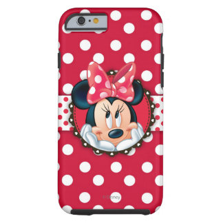 Minnie Mouse | Smiling on Polka Dots Tough iPhone 6 Case