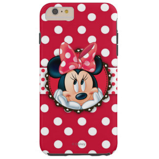 Minnie Mouse | Smiling on Polka Dots Tough iPhone 6 Plus Case