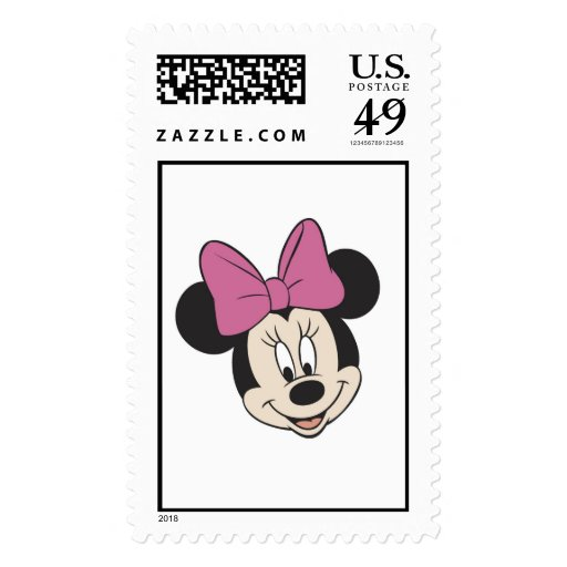 Minnie Mouse Smiling Postage Stamps