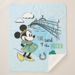 Minnie Mouse | St. Patrick's Day - Land of the Gre Sherpa Blanket