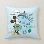 Minnie Mouse | St. Patrick's Day - Land of the Gre Throw Pillow