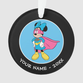 Minnie Mouse   Super Hero in Training Ornament