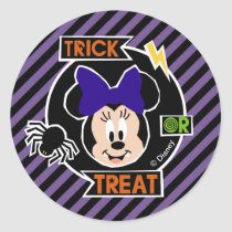 Minnie Mouse | Trick or Treat Halloween Party Classic Round Sticker