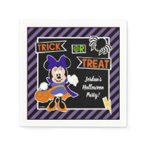 Minnie Mouse | Trick or Treat Halloween Party Napkin