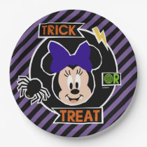 Minnie Mouse | Trick or Treat Halloween Party Paper Plate